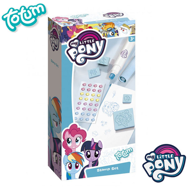 Totum My Little Pony - Комплект за рисуване с печати Моето малко пони 130111