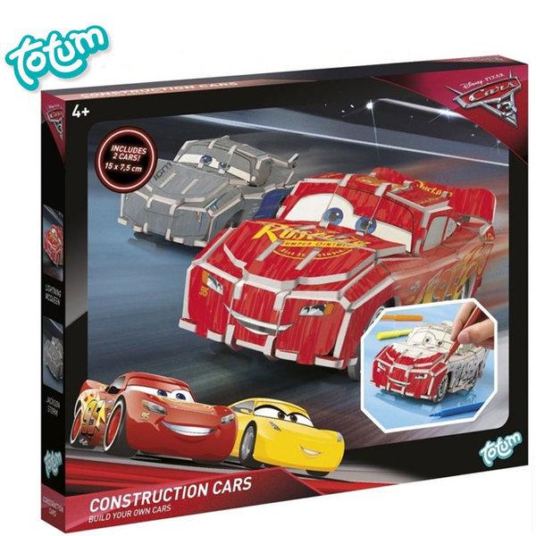 Totum Disney Cars - Направи сам колички Pull&Back Дисни Колите 140196