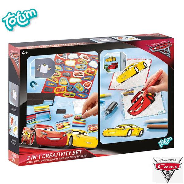 Totum Disney Cars - Креативен комплект 2в1 Дисни Колите 141063