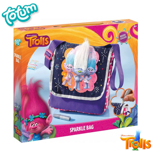 Totum Trolls - Декорирай сам бляскава чанта Тролчета 772007