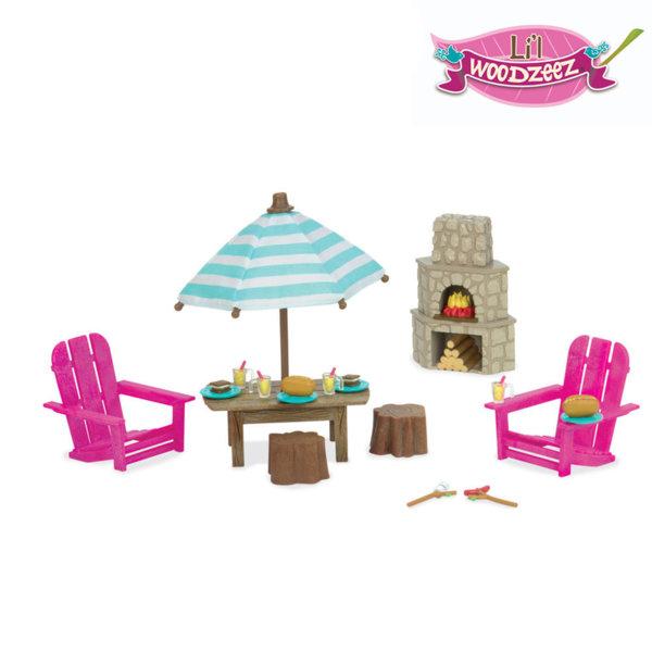 *Lil Woodzeez - Комплект за игра Двор с камина BT6170Z