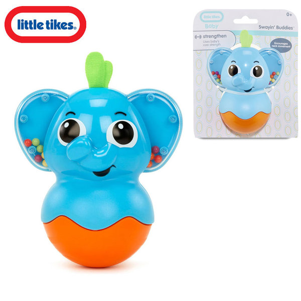 Little Tikes - Бебешка дрънкалка Слонче Роли-поли Flicker Fish Blue 641367E4C