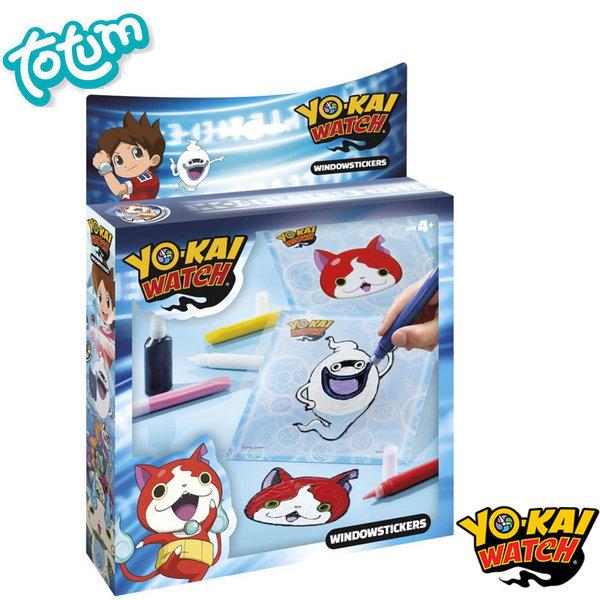 Totum Yo-Kai Watch - Детски стикери за стъкло Йо Кай Уоч 860032