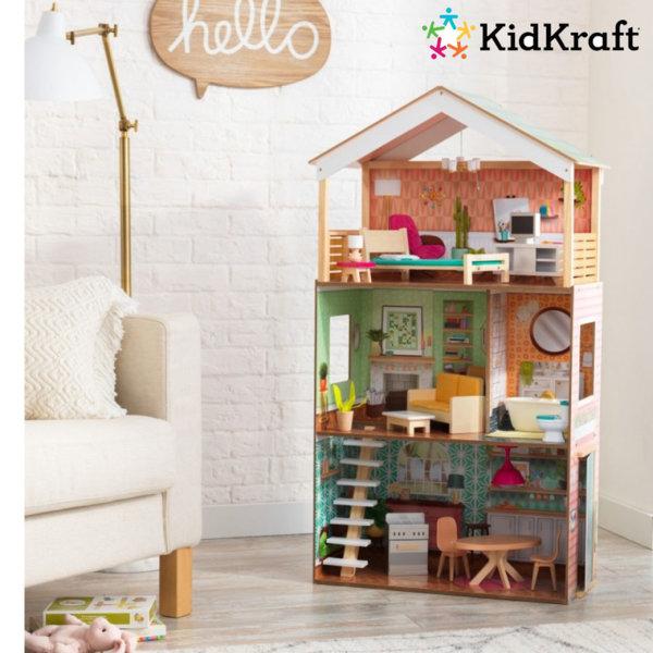 1KidKraft - Детска дървена куклена къща Dottie 65965