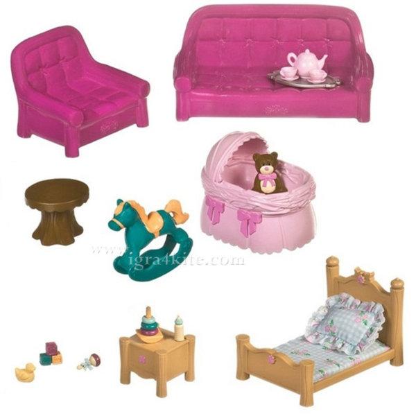 *Lil Woodzeez - Комплект за игра Дневна и детска стая BT6123Z