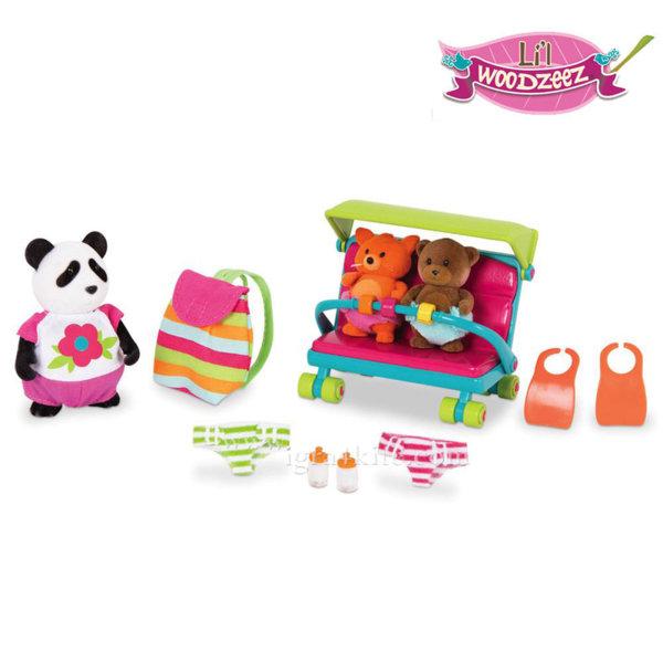 *Lil Woodzeez - Комплект за игра  Майка панда и бебета WZ6538Z