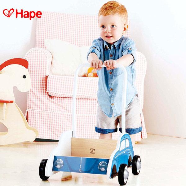 Hape - Детска дървена проходилка Blue Beetle H0382