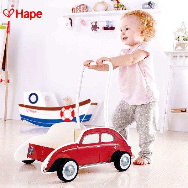 Hape - Детска дървена проходилка Red Beetle H0380