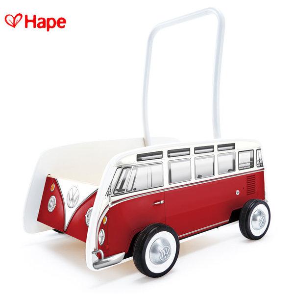 Hape - Детска дървена проходилка Red Bus H0379