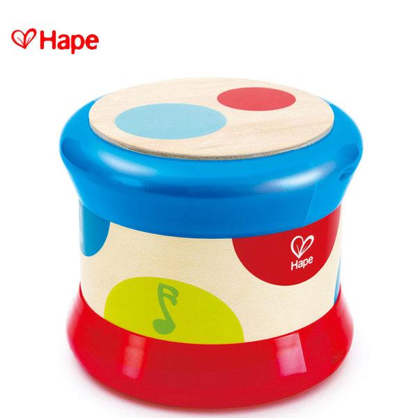Hape - Бебешки дървен барабан H0333