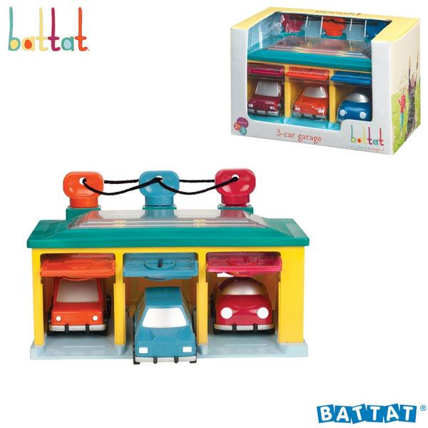 1Battat Toys - Гараж с три колички BT2412Z