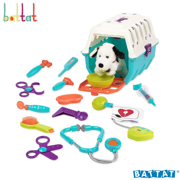 Battat Toys - Детски ветеринарен комплект с далматинец BT2538Z