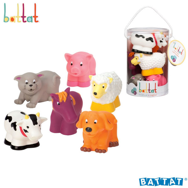 Battat Toys - Гумени играчки за баня Животните от фермата BT2467Z