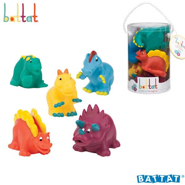 Battat Toys - Гумени играчки за баня Динозаври BT2468Z