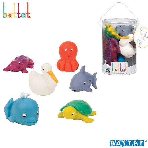 Battat Toys - Гумени играчки за баня Морски животни BT2469Z