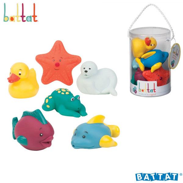 Battat Toys - Гумени играчки за баня Весели приятели BT2466Z
