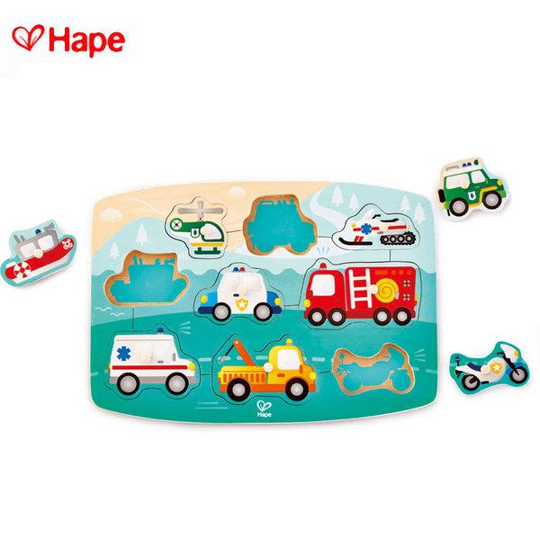 Hape - Детски дървен пъзел спешна помощ H1406