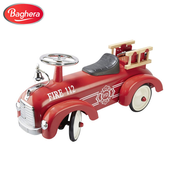 1Baghera - Метална пожарна кола за бутане с крачета 14162