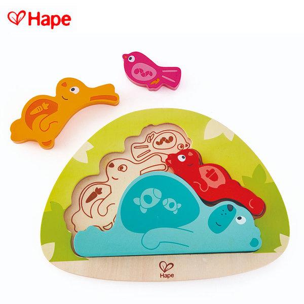 Hape - Дървен пъзел животни H1612