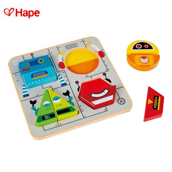 Hape - Детски дървен пъзел Роботи H0446