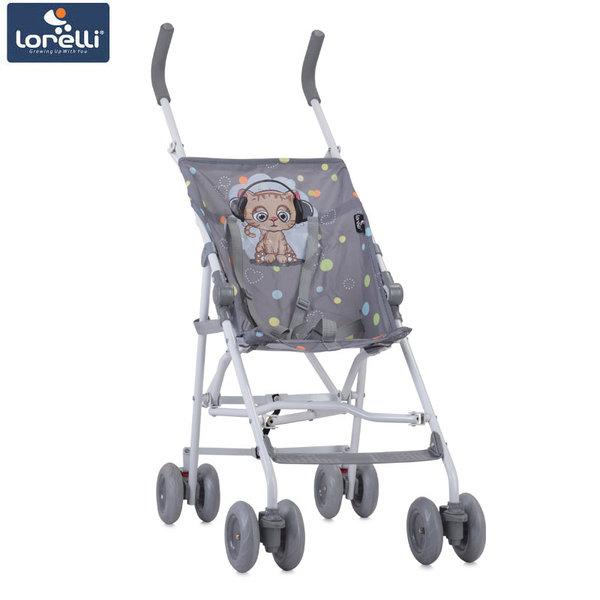 Lorelli - Детска количка FLASH GREY CUTE KITTEN 10020431805