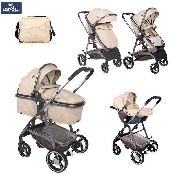 Lorelli - Детска количка SOLA SET BEIGE 10021331903