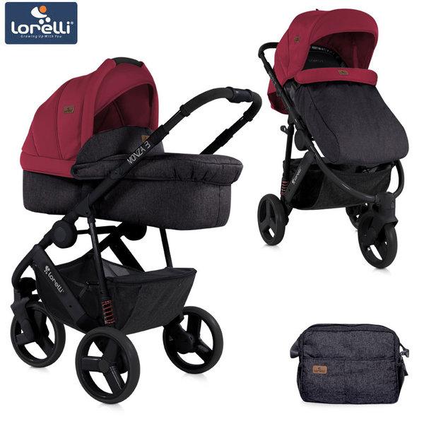 Lorelli - Модулна количка MONZA3 2in1 BLACK&RED 10020741800