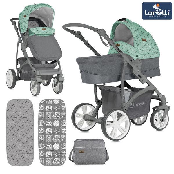 Lorelli - Комбинирана количка ARIZONA GREEN&GREY 10021021841