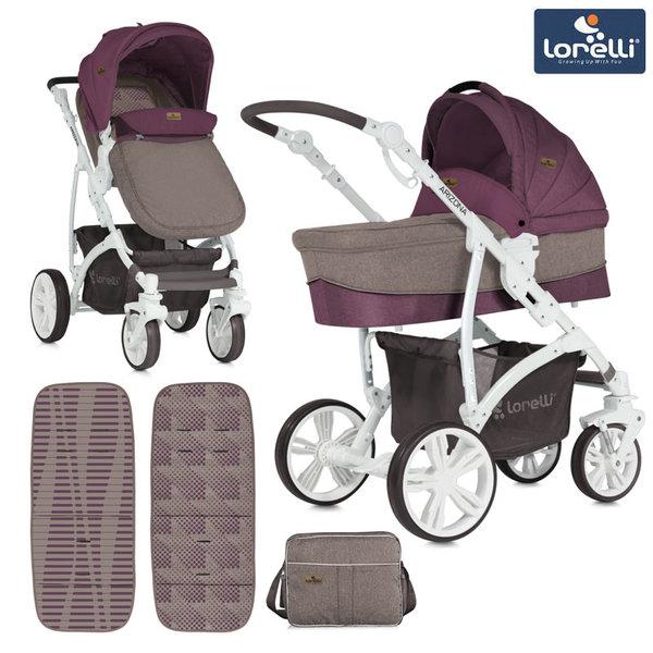 Lorelli - Комбинирана количка ARIZONA BEIGE&RED 10021021839