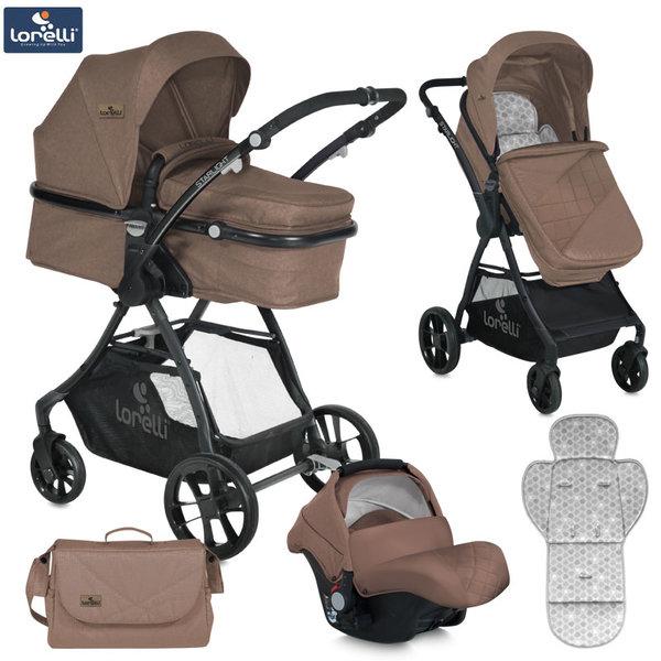 Lorelli - Детска количка STARLIGHT SET BEIGE 10021251863