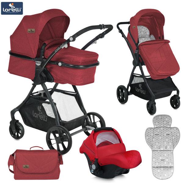 Lorelli - Детска количка STARLIGHT SET RED 10021251865