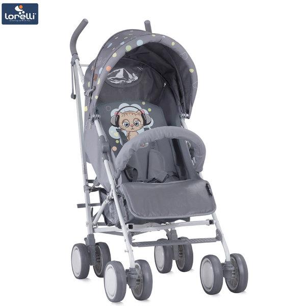 Lorelli - Детска количка IDA GREY CUTE KITTEN 10021301805