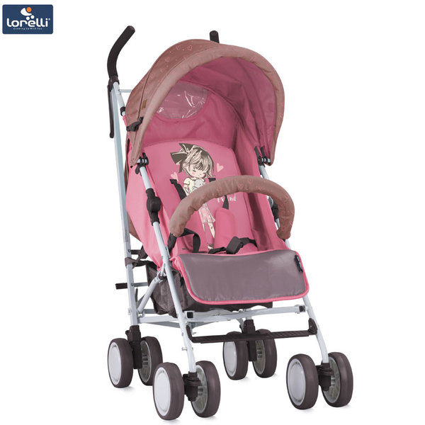 Lorelli - Детска количка IDA BEIGE&PINK GIRL 10021301834