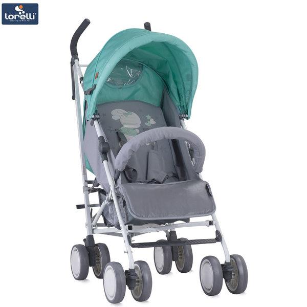 Lorelli - Детска количка IDA GREY&GREEN BUNNIES 10021301837