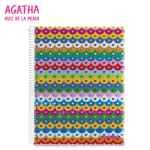 Agatha Ruiz de la Prada - Tejas Тетрадка А5 спирала 120листа 026229