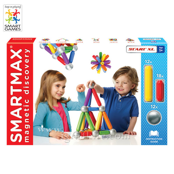 Smart Games - Магнитен конструктор SmartMax XL 42ч SMX501 1+