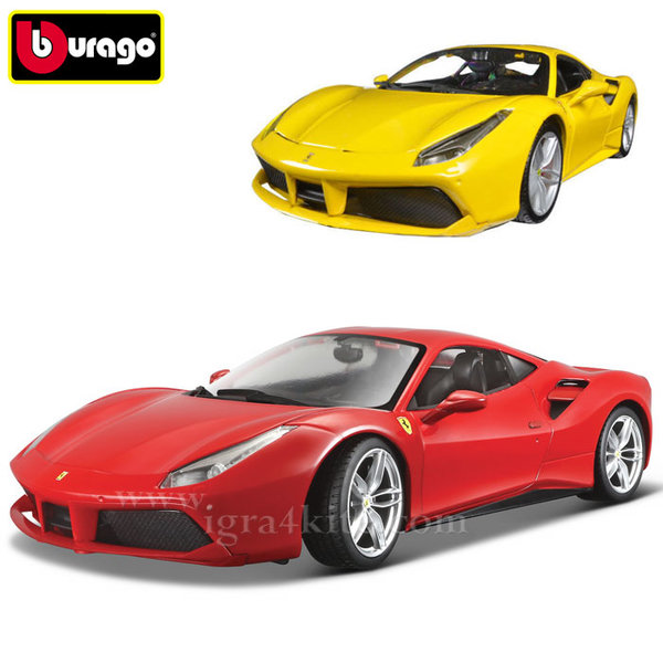 Bburago - Кола 1:24 Ферари 488 GTB 093918