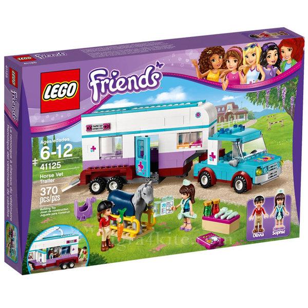 Lego 41125 Friends - Ветеринарна каравана за коне