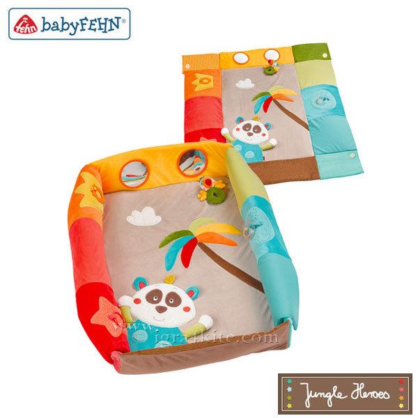 Baby Fehn Jungle Heroes - Бебешко килимче-гнездо за игра 067309