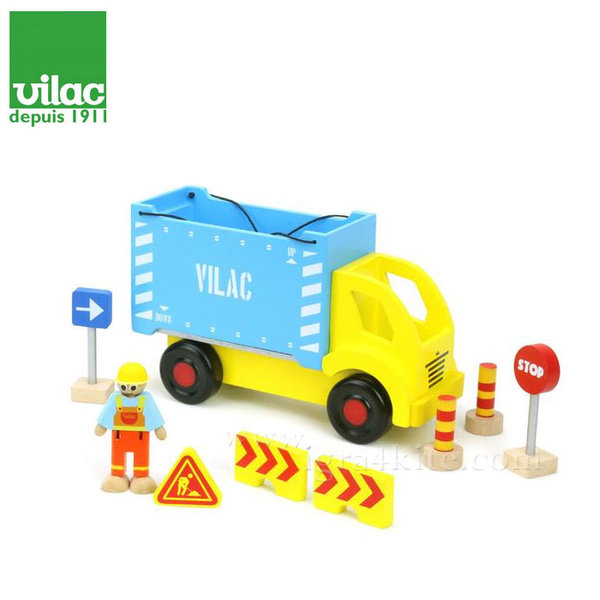 Vilac - Дървено камионче с аксесоари 2347