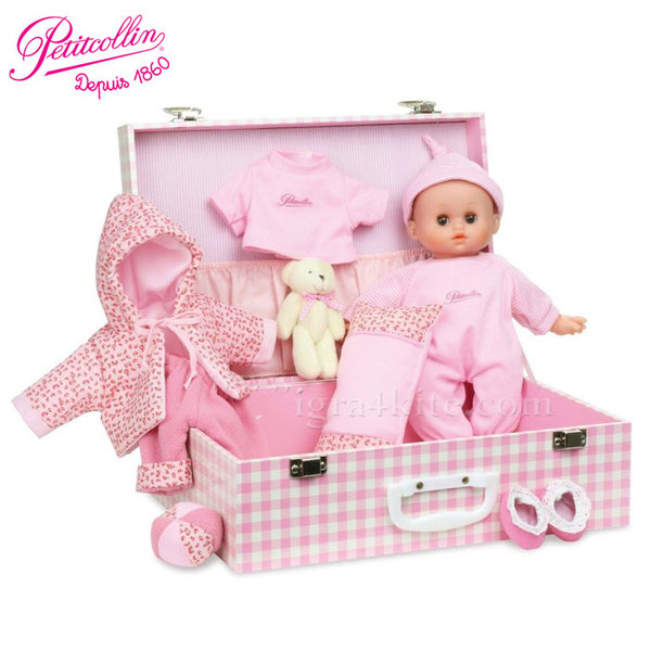 Vilac - Petitcollin Кукла бебе Petit Calin в куфарче 622812
