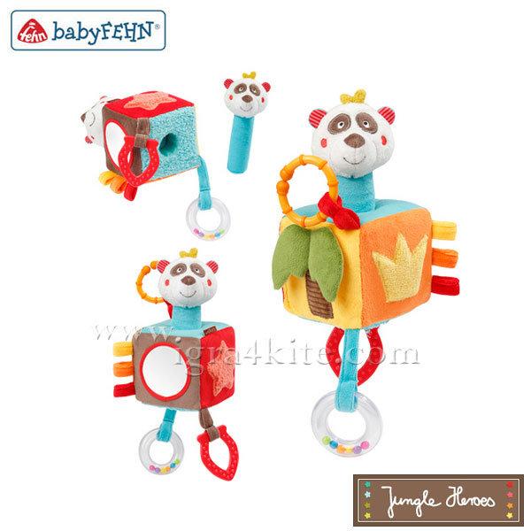 Baby Fehn - Бебешко меко кубче Панда 067231