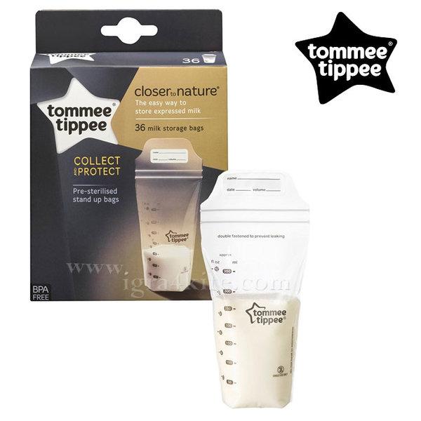 Tommee Tippee – Торбички за съхранение на кърма 36 бр.