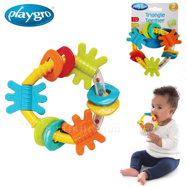 Playgro - Бебешка дрънкалка-гризалка Триъгълник 0330