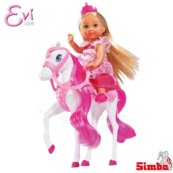 Simba - Кукла Еви с приказен кон 105732833