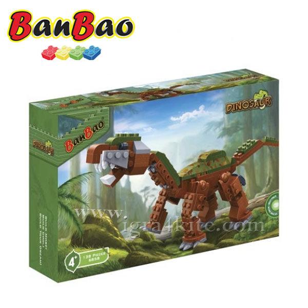 BanBao - Строител 4+ Кафяв тревопасен динозавър 6858