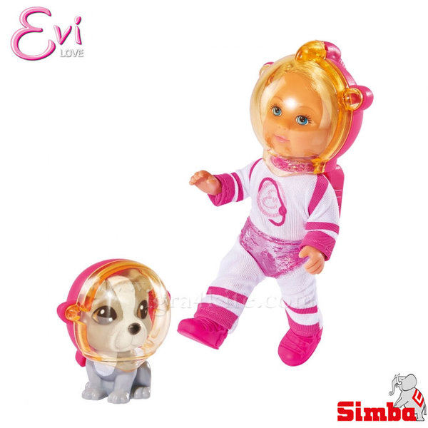 Simba - Кукла Еви космонавт с кученце 105736255