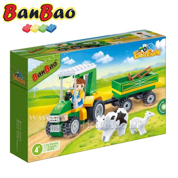 BanBao - Строител 4+ Тракто с ремарке 8586