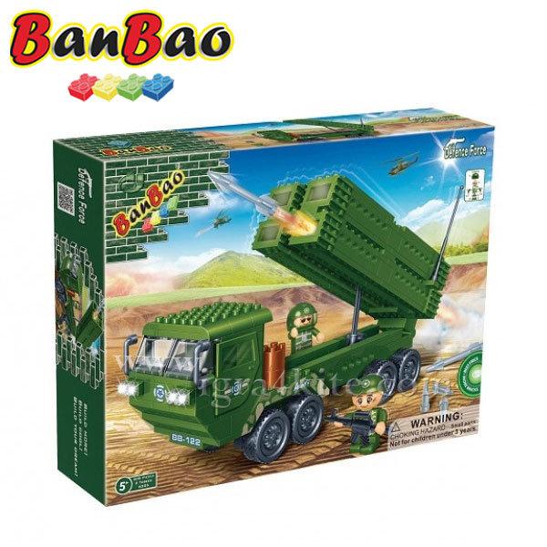 BanBao - Строител 5+ Военен камион 6205