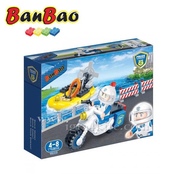 BanBao - Строител 4+ Полицейски мотор и лодка 7018
